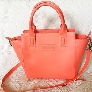 Vera Bradley coral satchel purse, like new